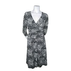Laundry by Shelli Segal Black and White Dress 8